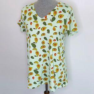 ⭐️3/$25⭐️ Lularoe Christy V neck avocado t shirt